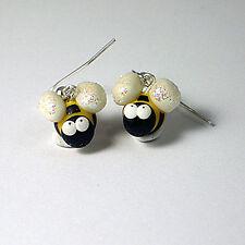 bee drop earrings glow in the dark wings cute emo
