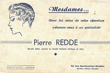 Buvard Vintage  Pierre Redde Soins des Cheveux