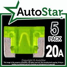 20 Amp Micro Fusibles X 5 – Automotriz Fusible-de bajo perfil, Mini, Aps att 20a 20amp un