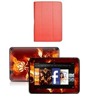 Genuine Leather Case Cover for Amazon Kindle Fire HD 8.9 inch+Skin Accessory R03