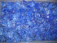 Fireglass 10Lbs Crystal Blue , Fire Pit, Fireplace