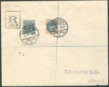 ICELAND 1902, 20 + 25aur I GILDI's reg cover to Germany