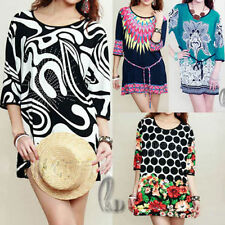 Casual Floral Cotton/Polyester Dresses for Women