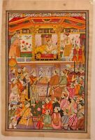 Hand Painted Mughal Maharani Portrait Queen Miniature Painting India Hookah