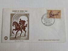 FDC JOURNEE DU TIMBRE 1963, COURRIER ROMAIN , MEZIERES 1963