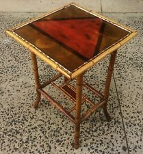 Antique 19th / 20th C English Regency Bamboo Chinoiserie Asian Table Stand