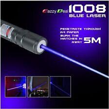 LASERPOINTER PURPLE STRAHL EXTREM 20KM + AKKU 1mW  BLUE LASER POWER POINTER
