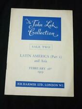 HARMER AUCTION CATALOGUE 1959 JOHN LEK COLLECTION SALE TWO LATIN AMERICA & ASIA