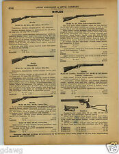 1922 PAPER AD Marble's Game Getter Rifle 44 Caliber 410 Gauge Marlin