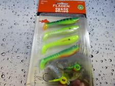 Fladen 80mm Soft Shads & jig head Lure Fishing Set Pike Perch Zander Trout 0801