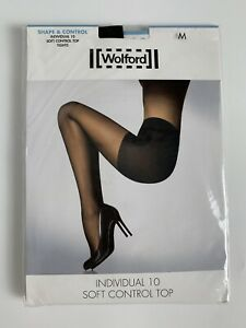 Wolford Shape & Control Tights  Black New 18163 7005