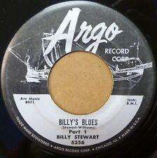 BILLY STEWART r&b ARGO strong vg 45 BILLY'S BLUES part 1 b/w part 2 ws121