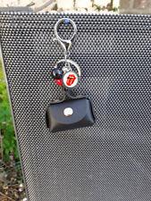 porte clés, bijoux de sac , porte monnaie cuir noir, rolling stones , 6/4/3cm