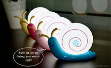 New Kids Night Light Bedside LED Lamp For Baby Children Rechargeable Cute Snail