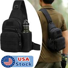 Men's Tactical Sling Bag Chest Shoulder Molle Small Daypack Backpack for Outdoor