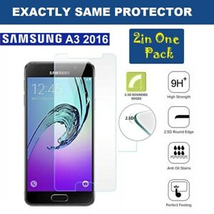 2 in 1 Pack Tempered Glass Screen Protector  For Samsung Galaxy A3 (2016)
