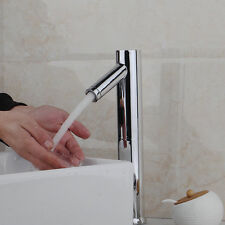 Automatic Sensor Hands Free Mixer Bathroom Basin Faucet Sink Tap Chrome Finish