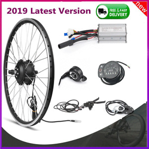 24V 250W E-bike Conversion Kit Front Rear Wheel Hub Motor LED Display Refit Set