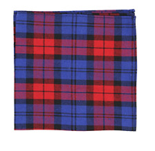 Tommy Hilfiger Men's Cotton Pocket Square, Red/Blue, One Size