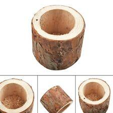 Plant Flower Pot Succulent Planter Faux Wood Small Flowerpot Home Garden Decor