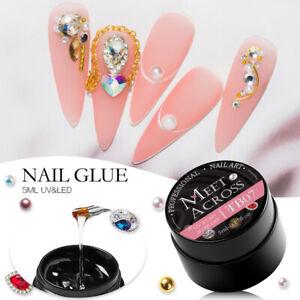 Mtssii Nail Art 5ml Rhinestone Glue Gel Adhesive Resin Gem Jewelry Diamond Tools