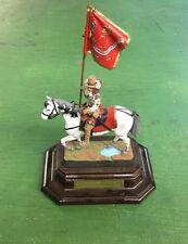E.062 Abanderado de las Iropas del Rey Inglaterra 1660 Mounted Metal Figure