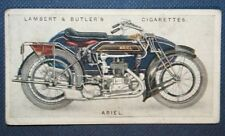 ARIEL Combination  Motorcycle Sidecar Outfit   Original 1923 Colour Card
