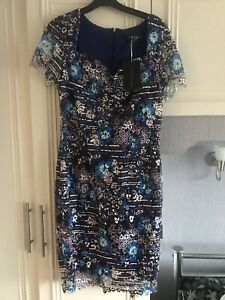 Paper Dolls London Dress Brand New Size 12 Blue Lined Bodycon Fitted