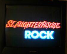 Prerecorded Horror VHS Slaughterhouse Rock & More Cable TV Rare