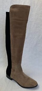 BNIB Clarks Caddy Belle Taupe Suede and Elastic Over The Knee Boots