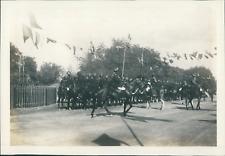 Inde, Inspection des troupes à cheval, ca.1905, vintage silver print Vintage sil