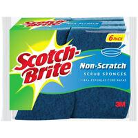 Scotch-Brite 526 Non-Scratch Multi-Purpose Scrub Sponge, Blue, 6-Pack