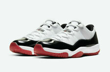 Air Jordan 11 XI Retro Low White Black Red Bred AV2187-160 Men's Shoes Size 11