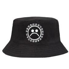 Black Bucket Hat Sad Boys Men Women Hip Hop Fishing Cap Sun Hat Fashion  GN*es