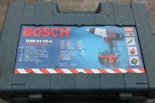 Bosch GSB 24 VE-2 Drill 24v c/w 2 x Batteries, Charger, Case.