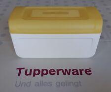 Tupperware * Junior-Brotmax Brotbehälter * gelb + weiß