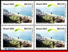 New listing 2907 BRAZIL 2003 PARACHUTTING, PARAGLIDING, SPORTS, MI# 3339, C-2550, BLOCK MNH