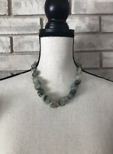 JAY KING Necklace Green Agate Natural Stone Beads Sterling Silver Clasp