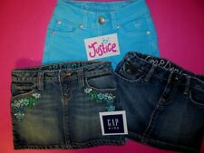 Justice + GAP Kid's LOT Girl's Shorts Size 6 Teal Denim + Jean Skirt Mixed STORE