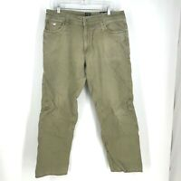 KUHL- MEN'S SIZE 36 X 32 - BROWN OUTKAST COTTON JEANS