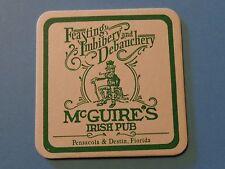 Beer Coaster ~ McGuire's Irish Brewery ~ Pensacola, Destin, FLORIDA ~ Date Notes