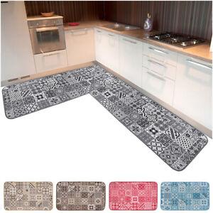 Tappeto cucina angolare passatoia al metro su misura bordata piastrella maiolica