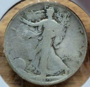 1919-P Walking Liberty Half Dollar. Grades G/VG