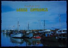 Greetings from Lakes Entrance Fishing Boats Murray Views c1970's Postcard (P240)