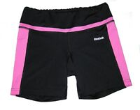 Reebok Play Dry Athletic Compression SHORTS Size XS Black Purple Stretch Running