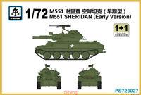 S-model PS720027 1/72 M551 Sheridan Early Version (1+1) Hot