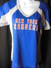 New York Rangers Women's G-III Hands High V Neck Tee Shirt
