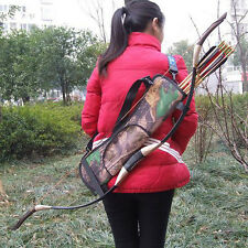 Archery Quiver Back Hip Waist Bag Arrow Bow Holder Pouch for Target Hunting