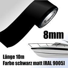 ZIERSTREIFEN 10m SCHWARZ MATT 8mm Auto Boot Jetski Modellbau Vinyl