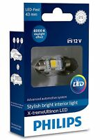 Philips LED Interior Car Bulbs FESTOON 43mm C5W 6000K 129466000KX1 Xenon White